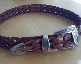 Brighton Weave leather belt