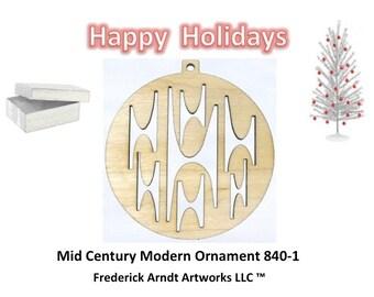 840-1 Mid Century Modern Christmas Ornament