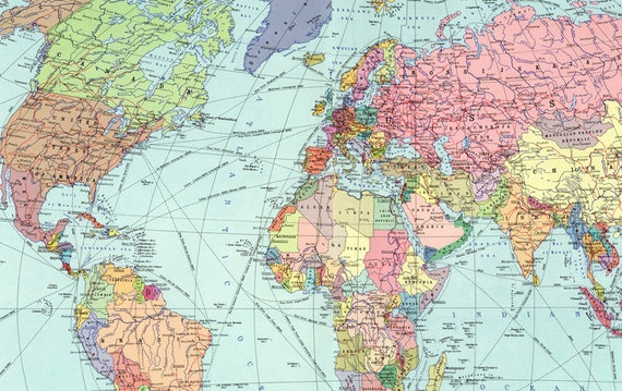 World map printable digital downloadntage world map old world world map printable digital downloadntage world map old world map vintage art image instant digital downloadintable map gumiabroncs Image collections