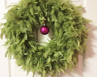 Quality Apple Feather Wreath