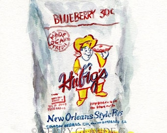 New Orleans Hubigs Pie Print