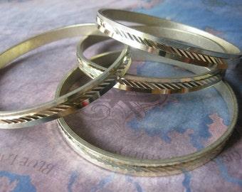 1 PC Raw Brass Diamond Cut Bangle Bracelet - B062
