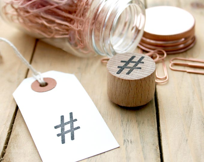 Social Media Rubber Stamp - Hashtag - Hashtag Stamp - Social Media Hashtag - Social Media Clear Stamp - StampStore