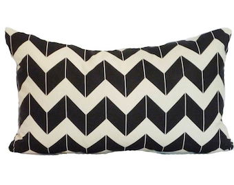 clearance discontinued 50 % off  huge sale chevron pillow cover cream black dimensional custom linen throw home decor zig zag