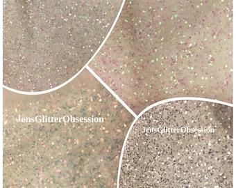 Nail Art Glitter Mermaid Effect Pixie Fairy Dust White Iridescent Glitter Shimmer Effects