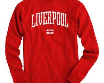 LS Liverpool Tee - Long Sleeve T-shirt - Men and Kids - S M L XL 2x 3x 4x - UK - England - 4 Colors