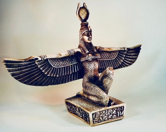 A Stunning Sitting Statue Of The Egyptian Goddess Isis