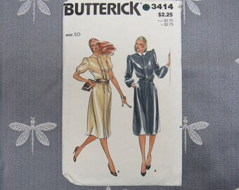 UNCUT Dress Pattern Vintage Pattern 3414 Butterick Pattern 1970s Sewing Pattern Bust 32-1/2 Hip 34-1/2 Waist 25 Size 10