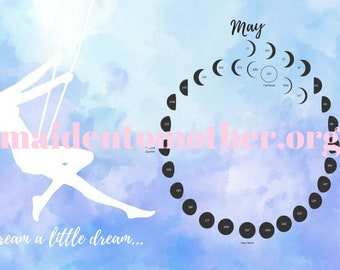 Spiral Lunar Calendar Desktop Background