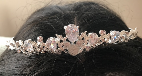 Disney Themed Wedding-Cinderella Tiara-Hidden Mickey Inspired-Bride To Be Shower Gift