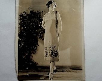 1920's 8x10 Photo, Fashion Model, Flapper Girl, Dress Shoes