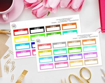 Study Boxes | Planner Stickers, School Stickers, Student Stickers, Study Trackers, Erin Condren, Kikki K, Filofax, Happy Planner, College