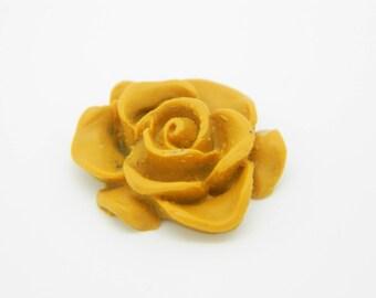 1 x polymer clay (l581) Brown 20mm flower cabochon