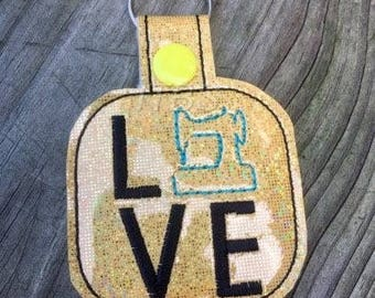 Sewing love key fob