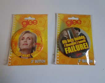 Glee TV Show Character Button Pinback Pin Flair Gleek Destash Sale! New in Package Party Favors Collectible Gifts for Music Fans