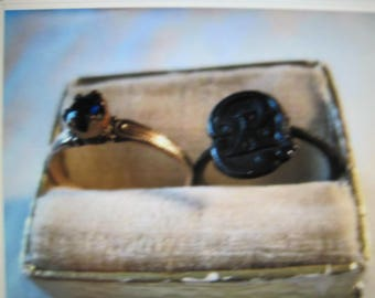 antique baby rings,...lot of 2,..very old, box included...