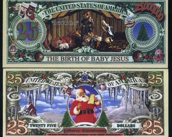 USA Christmas Set, 25 + 25000000, Birth of Jesus, Angels, Santa Claus