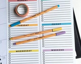 Digital Download - Weekly Planner