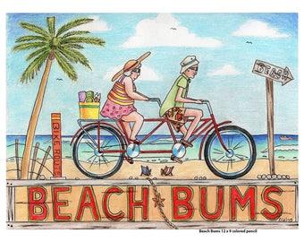 Beach Bums-Original Artwork Digital Download