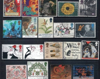 GREAT BRITAIN - Mixed Lot of 29 Old Stamps most Good to Fine Used