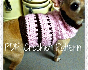 PDF Crochet Pattern - Criss Cross Dog Sweater - Permission to sell finished items