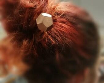 Hairpin, hair jewelry, geometric jewelry, copper, handmade jewelry, brass jewelry, hair pin, hair stick