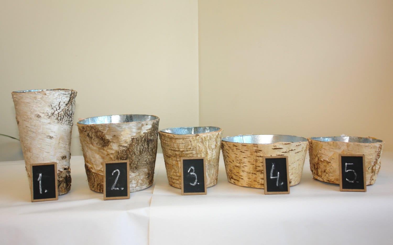 Birch bark vases wood boxes birch vase wedding flower pot zoom reviewsmspy