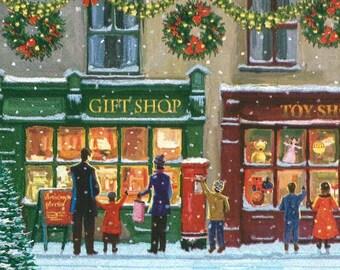 Christmas shopping napkin (385)