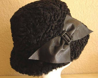 Ladies Karakul Hat. REAL fur.
