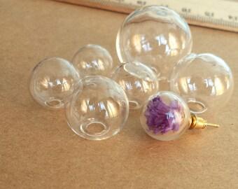 Bola de cristal transparente de 2pcs, cúpula de cristal. Que deseen botella colgante GB02