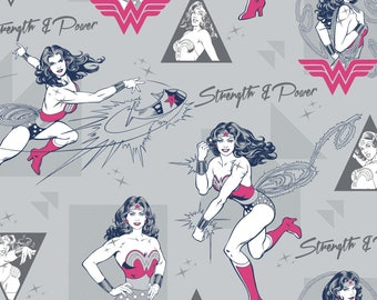 New Camelot DC Comincs Wonder Woman on Gray, Strength and Power, yard