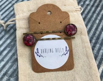 Rose petal hair pins