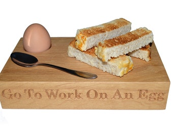 Egg & Soldier Board, Personalised Egg Cup, Egg and Toast Board, Breakfast Serving Board, Birthday Gift