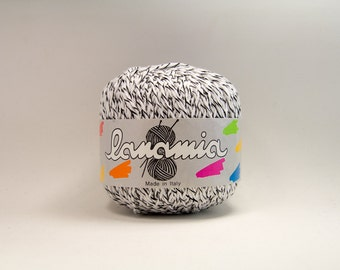 Viscose/Cotton Blend Yarn - DK Weight - Black & White Mix from Italy/Germany