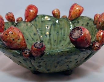 Sicilian Decorative Prickly Pear Bowl