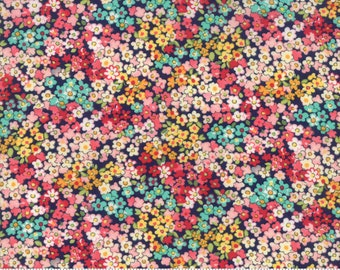 Camden in Navy - Regent Street Lawns 2018 - Cotton Lawn Fabric - Moda Fabrics - Floral - 33324 16 - Tiny Floral