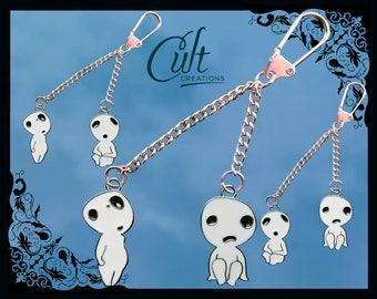 Studio Ghibli Princess Mononoke, choose your own Kodama key chain \ key ring.