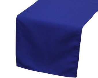 Charmant YCC Linen   Royal Blue Polyester Table Runner | Wedding Table Runner