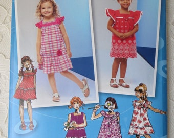 Simplicity Sewing Pattern 2193 Project Runway Dress with Sleeve & Trim Variations Toddler/Childrens Size BB 4-8