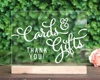 Cards & Gifts Acrylic Sign