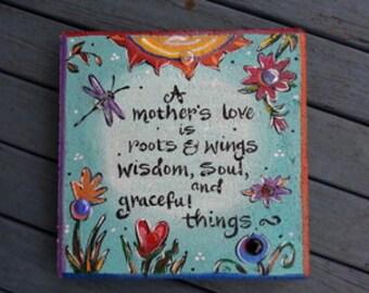 Mother, Mom gift, Garden stone, Garden