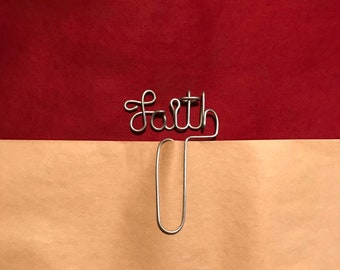 FAITH Wire Bookmark Paperclip