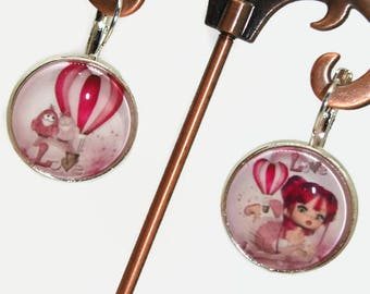 duo set earrings sleepers silver