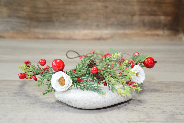 Chritmas beauty gifts winter wedding flower crown red berry zoom izmirmasajfo