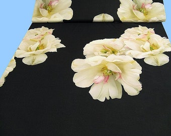1 Pattern of elegant jersey with snow roses