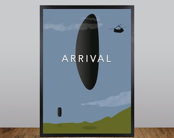 Arrival Print, Minimalist Movie Poster Unofficial Fan Art
