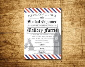 British Bridal Shower Invitation