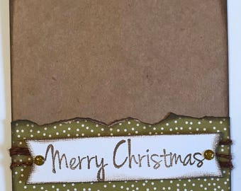 Merry Christmas- Kraft and Green Card Pack