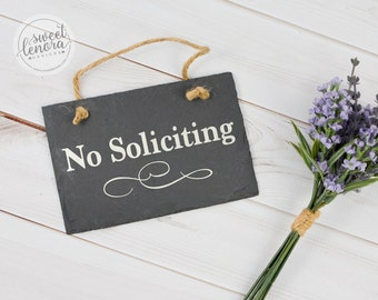 No Soliciting - Do Not Disturb - Slate Sign