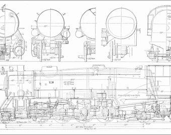Poster, Many Sizes Available; Usra Heavy Mikado Railroad Locomotive Train Diagram C1922